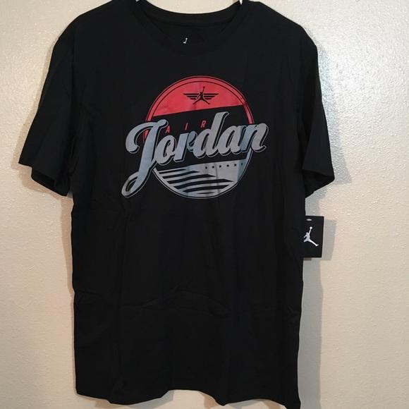 490438a4bd3ed3 NEW Jordan Jumpan Tee Shirt Air Jordan Black Large